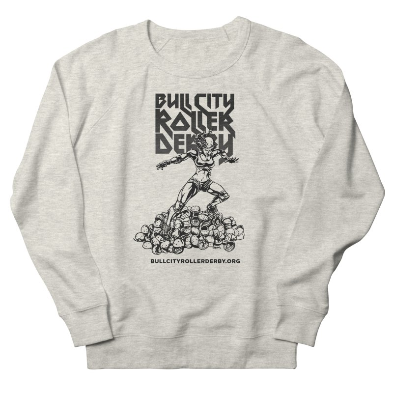 Bull City- HEAVY METAL Men's Sweatshirt by Bull City Roller Derby Shop