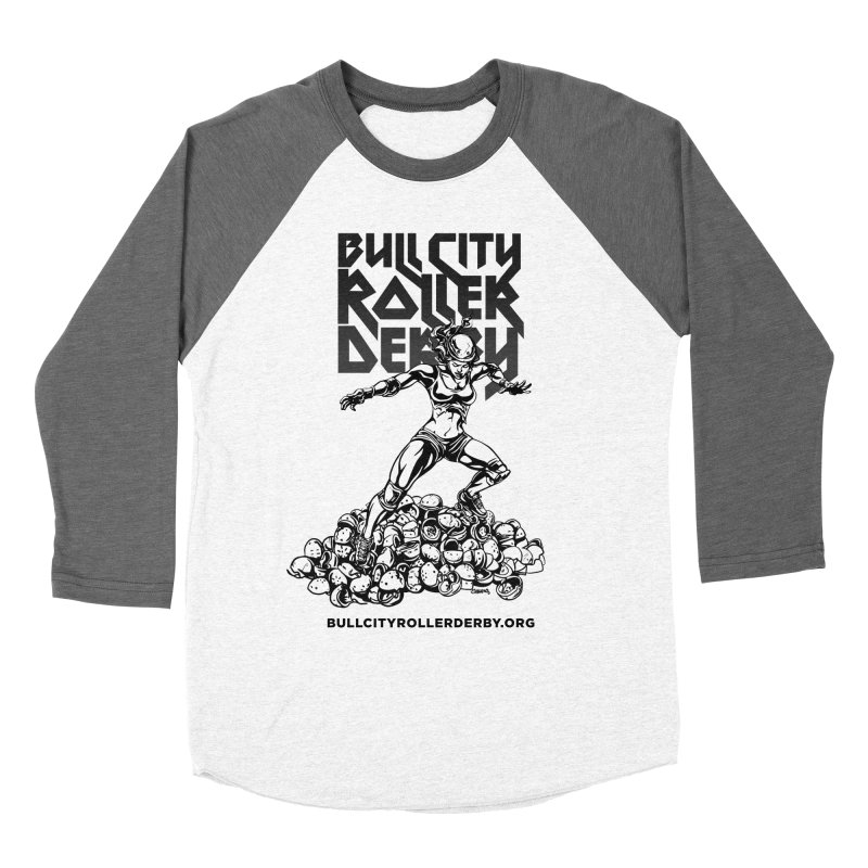Bull City- HEAVY METAL Women's Baseball Triblend Longsleeve T-Shirt by Bull City Roller Derby Shop