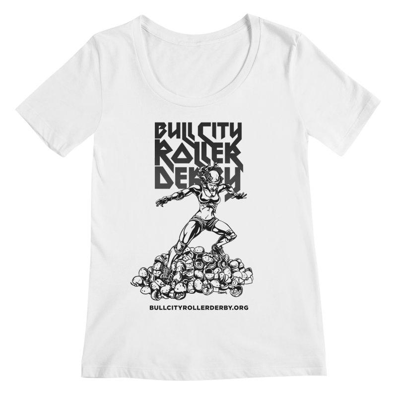 Bull City- HEAVY METAL Women's Regular Scoop Neck by Bull City Roller Derby Shop