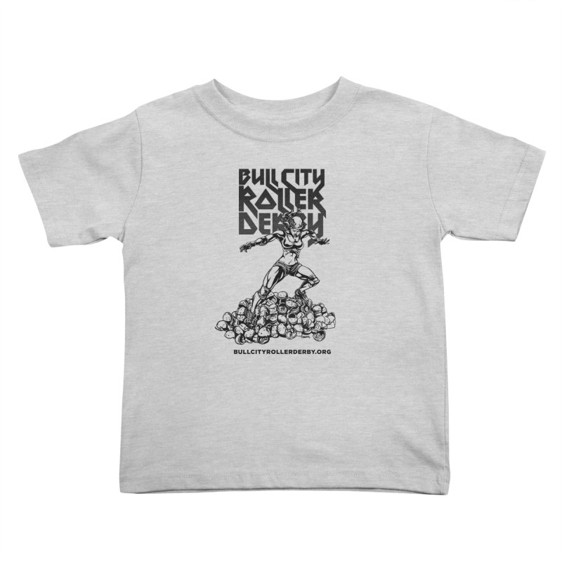 Bull City- HEAVY METAL Kids Toddler T-Shirt by Bull City Roller Derby Shop
