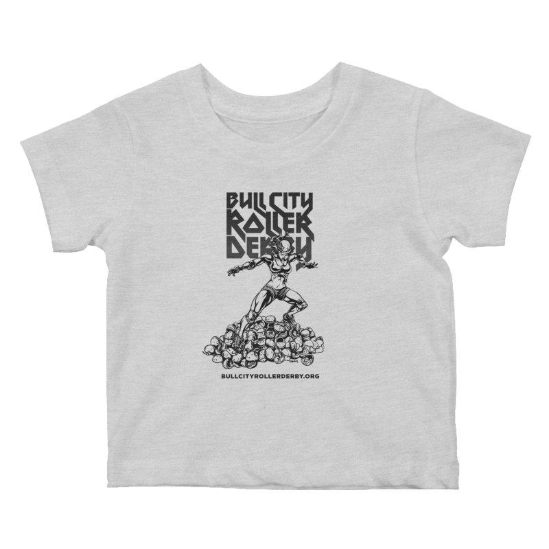 Bull City- HEAVY METAL Kids Baby T-Shirt by Bull City Roller Derby Shop
