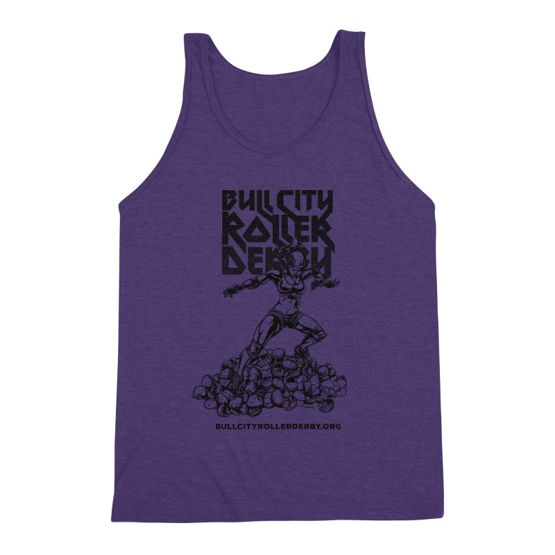 Bull City- HEAVY METAL Men's Triblend Tank by Bull City Roller Derby Shop