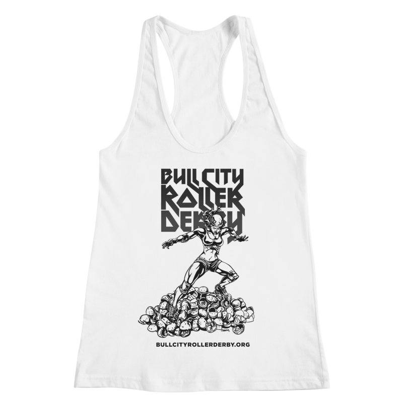 Bull City- HEAVY METAL Women's Racerback Tank by Bull City Roller Derby Shop