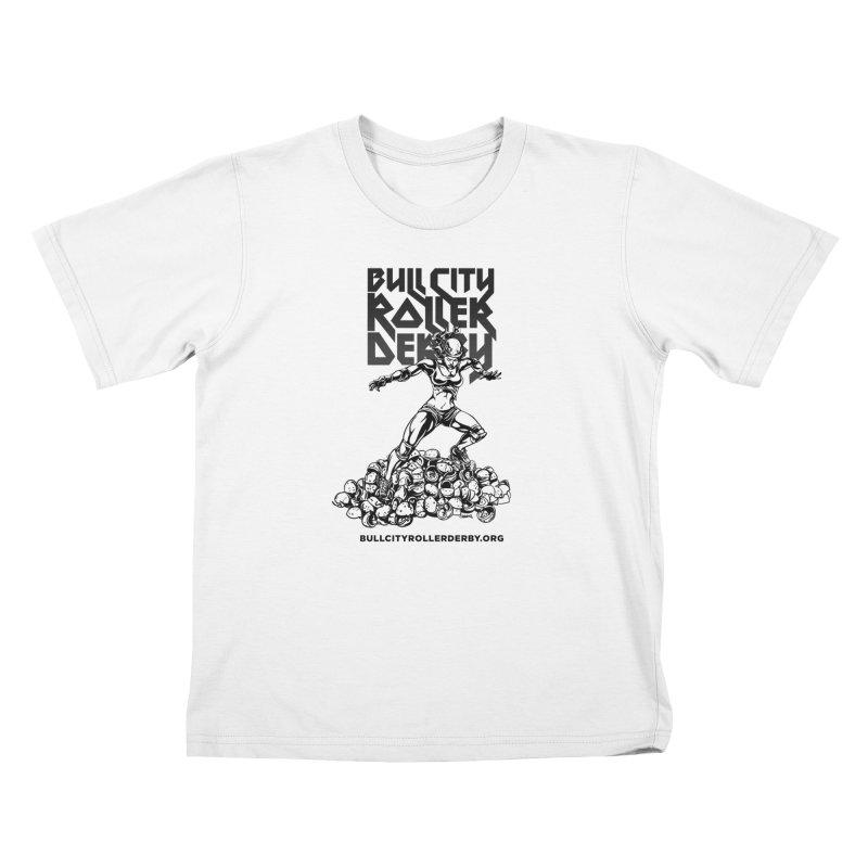 Bull City- HEAVY METAL Kids T-Shirt by Bull City Roller Derby Shop