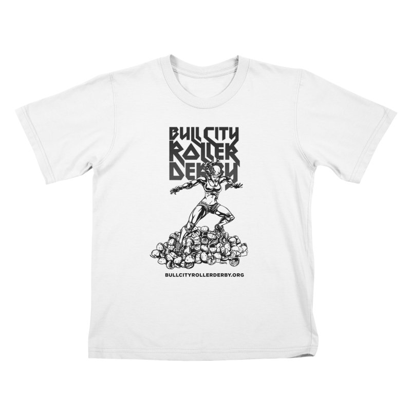 Bull City- HEAVY METAL Kids T-Shirt by Bull City Roller Derby Shop