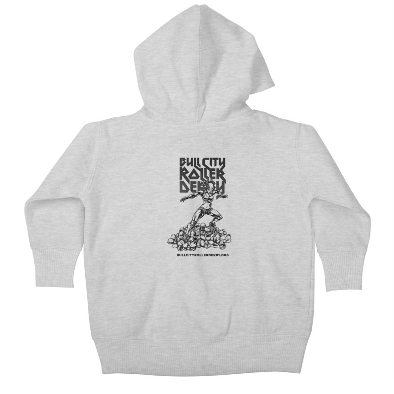 Bull City- HEAVY METAL Kids Baby Zip-Up Hoody by Bull City Roller Derby Shop
