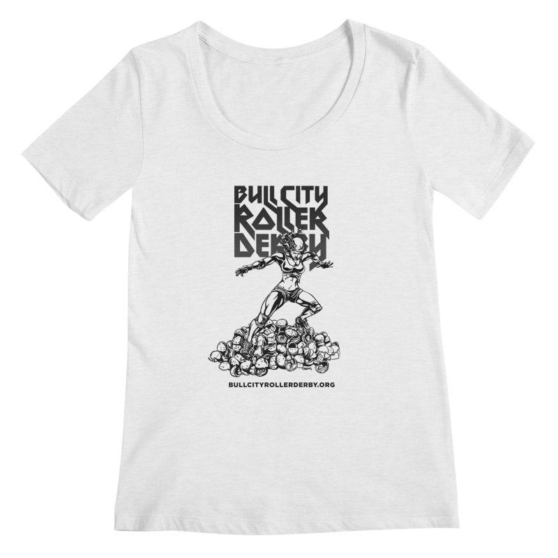 Bull City- HEAVY METAL Women's Regular Scoop Neck by Bull City Roller Derby Shop