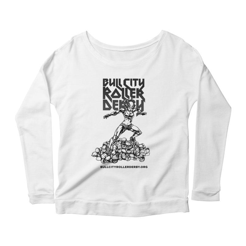 Bull City- HEAVY METAL Women's Scoop Neck Longsleeve T-Shirt by Bull City Roller Derby Shop