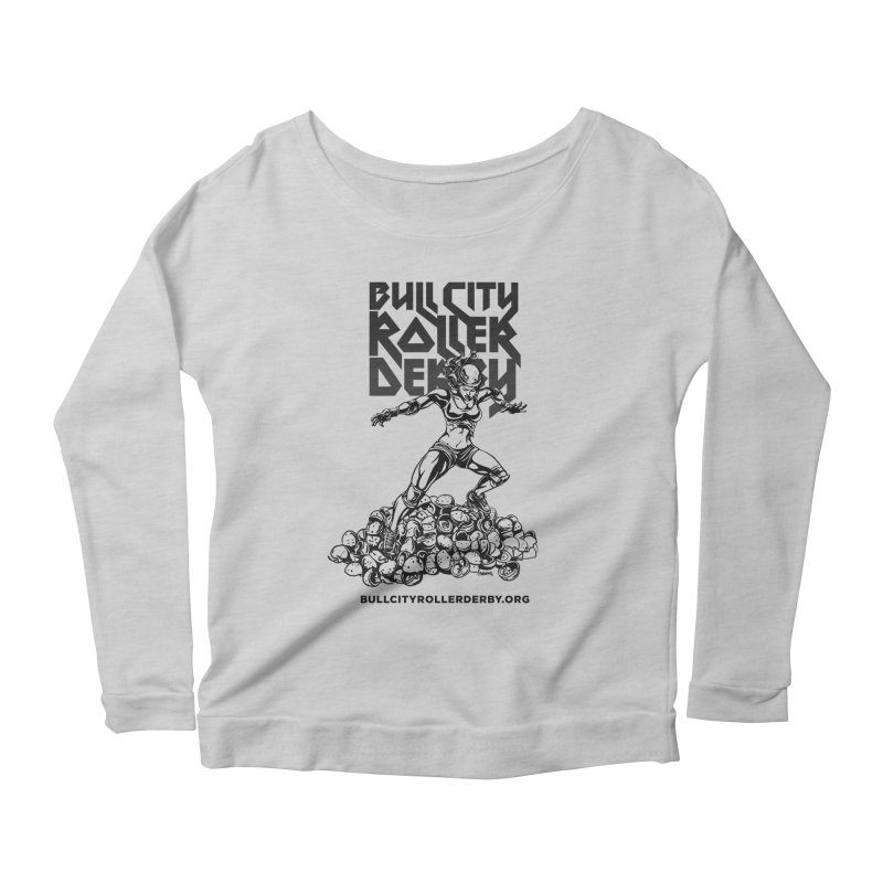 Bull City- HEAVY METAL Women's Scoop Neck Longsleeve T-Shirt by Bull City Roller Derby Shop