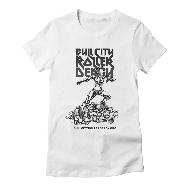 Bull City- HEAVY METAL Women's T-Shirt by Bull City Roller Derby Shop