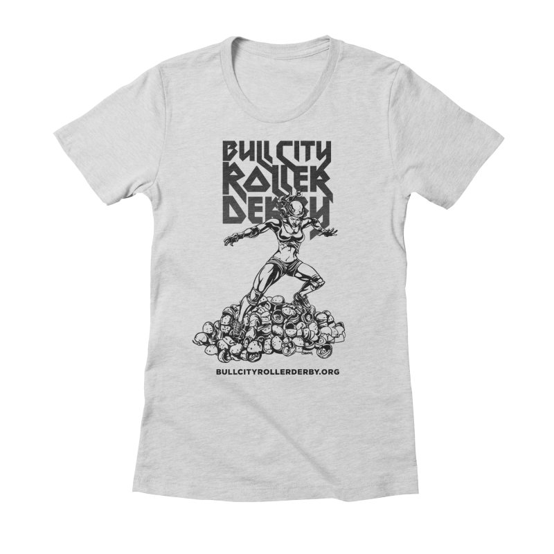 Bull City- HEAVY METAL Women's Fitted T-Shirt by nonnahsonic's Artist Shop