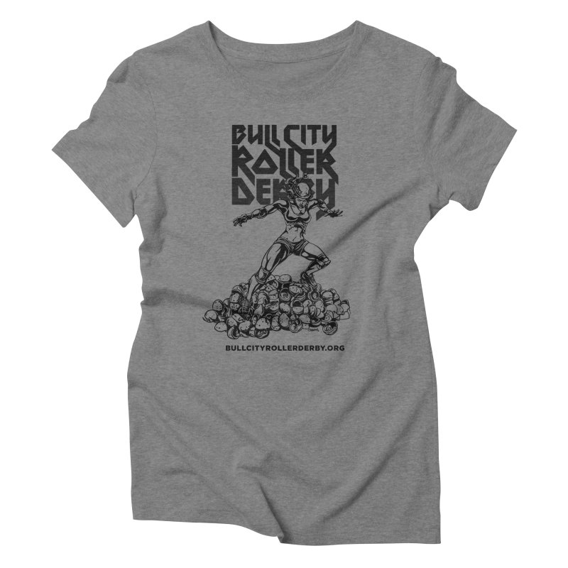 Bull City- HEAVY METAL Women's Triblend T-Shirt by Bull City Roller Derby Shop