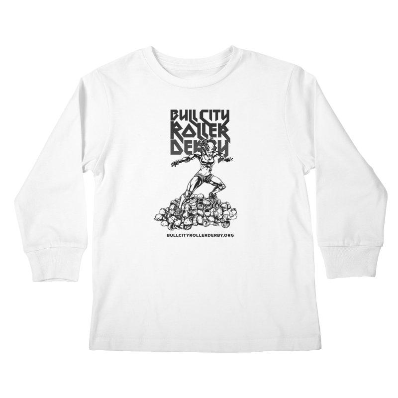 Bull City- HEAVY METAL Kids Longsleeve T-Shirt by Bull City Roller Derby Shop