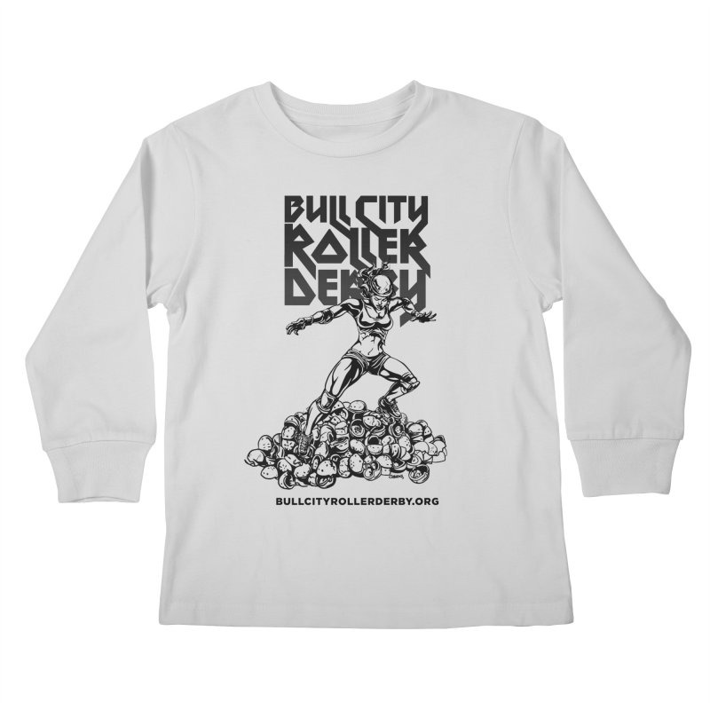 Bull City- HEAVY METAL Kids Longsleeve T-Shirt by Bull City Roller Derby Shop