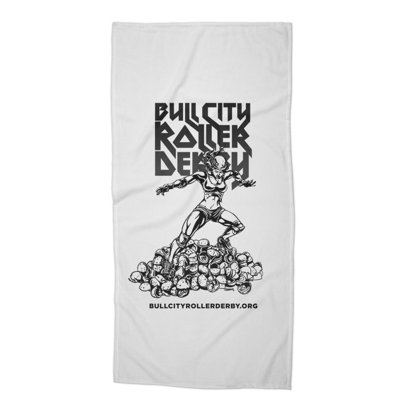 Bull City- HEAVY METAL Accessories Beach Towel by Bull City Roller Derby Shop