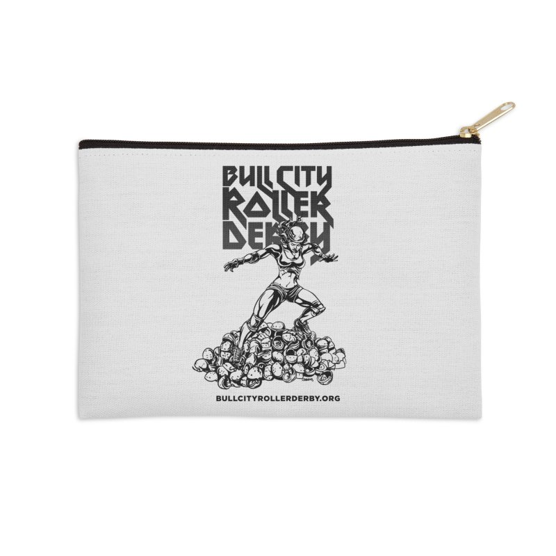 Bull City- HEAVY METAL Accessories Zip Pouch by Bull City Roller Derby Shop