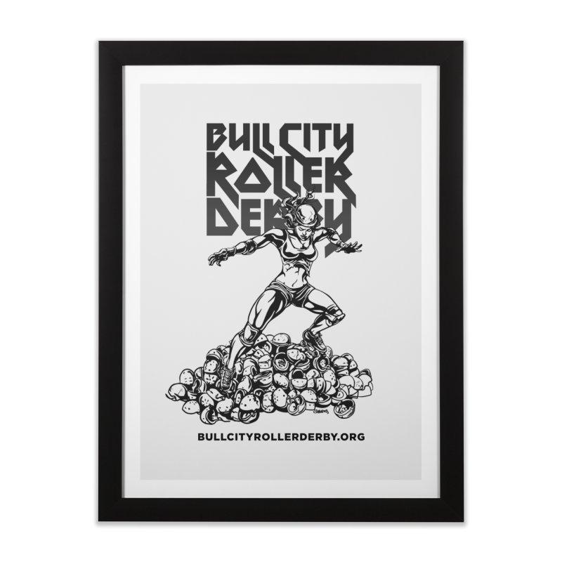 Bull City- HEAVY METAL Home Framed Fine Art Print by nonnahsonic's Artist Shop