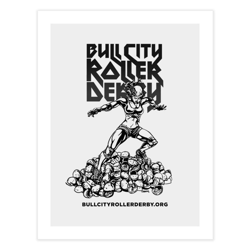 Bull City- HEAVY METAL Home Fine Art Print by Bull City Roller Derby Shop