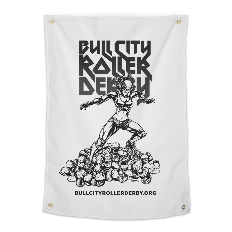 Bull City- HEAVY METAL Home Tapestry by Bull City Roller Derby Shop