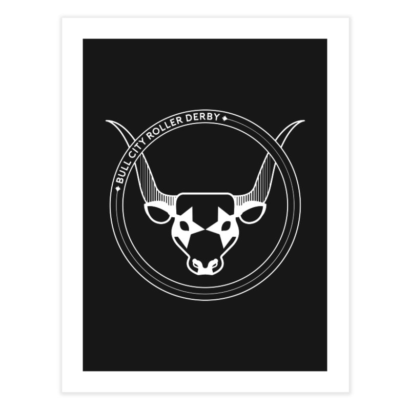 BCRD Badge Home Fine Art Print by Bull City Roller Derby Shop