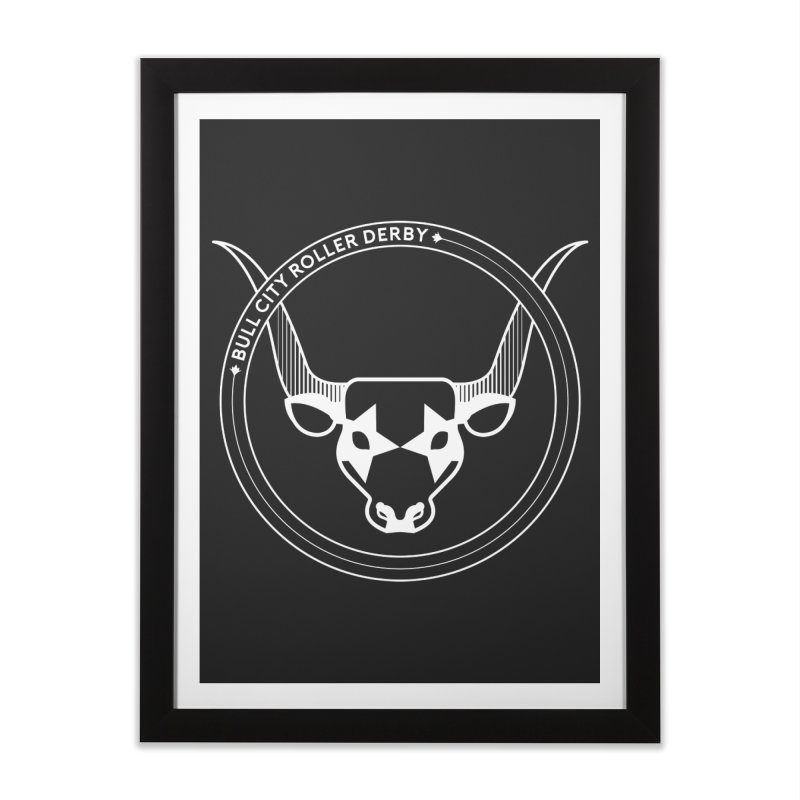 BCRD Badge Home Framed Fine Art Print by Bull City Roller Derby Shop