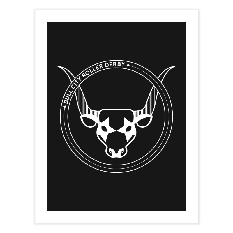 BCRD Badge Home Fine Art Print by Bull City Roller Derby Shop