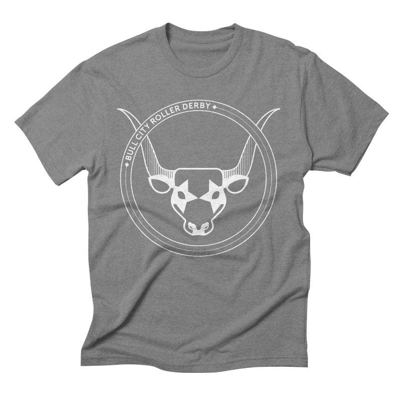 BCRD Badge Men's T-Shirt by Bull City Roller Derby Shop