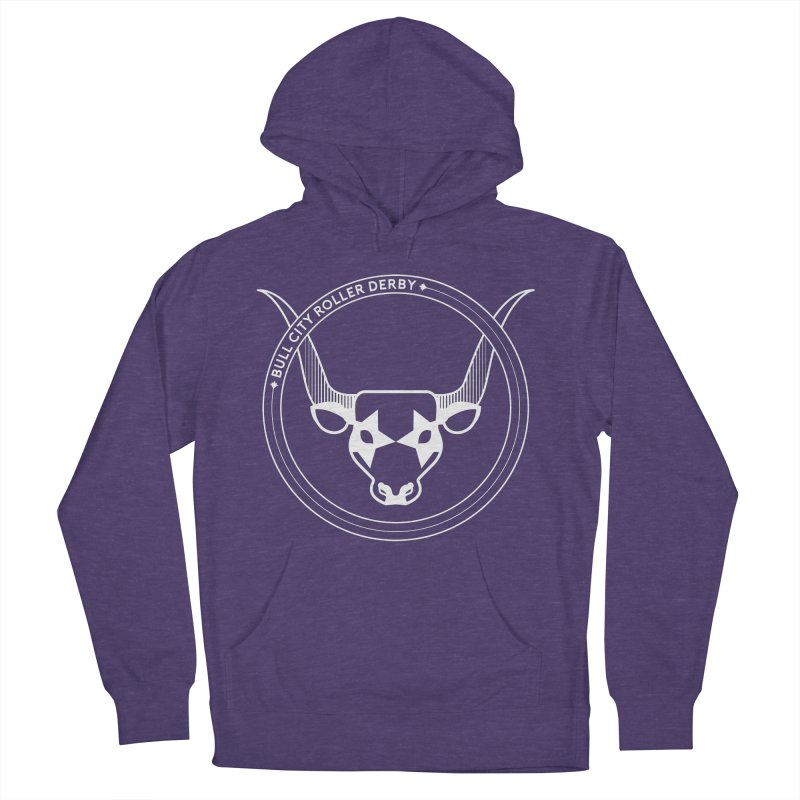 BCRD Badge Women's French Terry Pullover Hoody by Bull City Roller Derby Shop