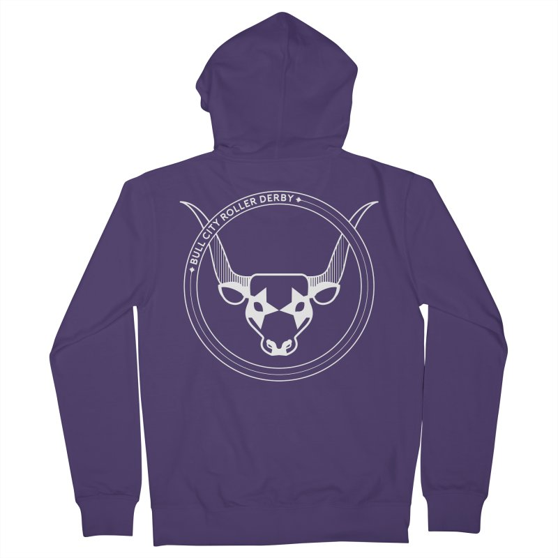 BCRD Badge Women's French Terry Zip-Up Hoody by Bull City Roller Derby Shop