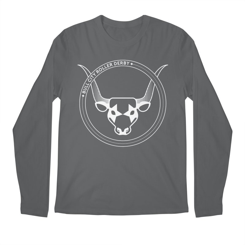 BCRD Badge Men's Regular Longsleeve T-Shirt by Bull City Roller Derby Shop