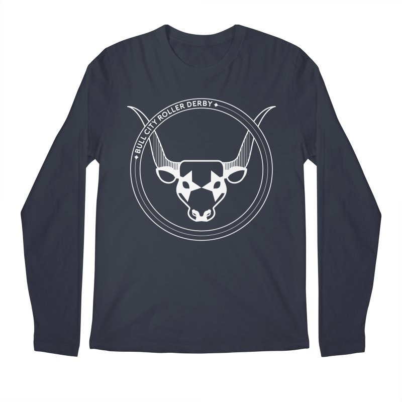 BCRD Badge Men's Longsleeve T-Shirt by Bull City Roller Derby Shop