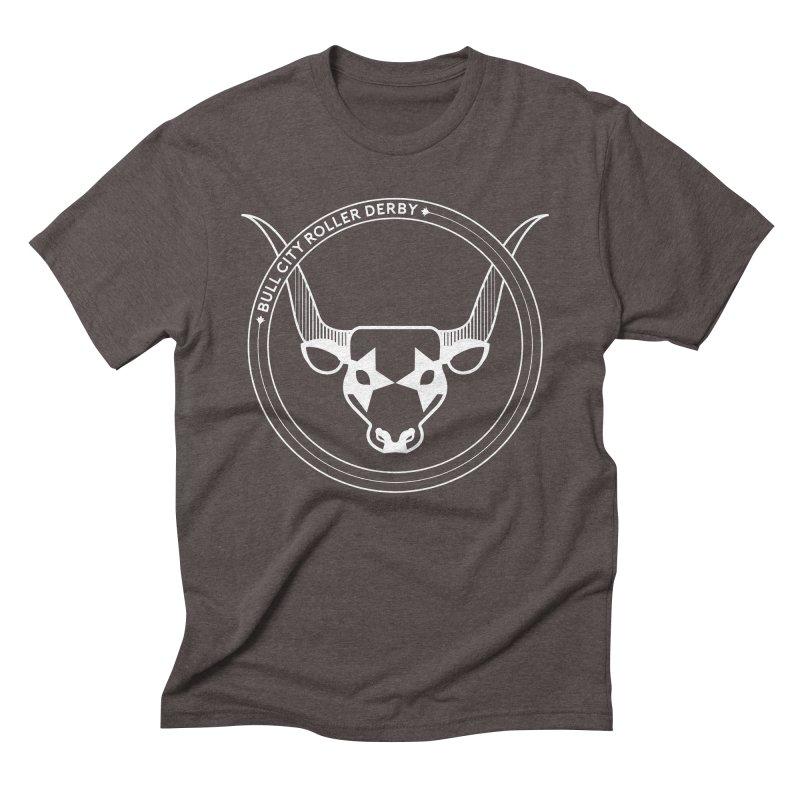 BCRD Badge Men's Triblend T-Shirt by Bull City Roller Derby Shop