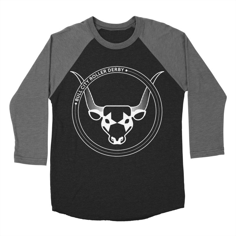 BCRD Badge Women's Baseball Triblend Longsleeve T-Shirt by Bull City Roller Derby Shop