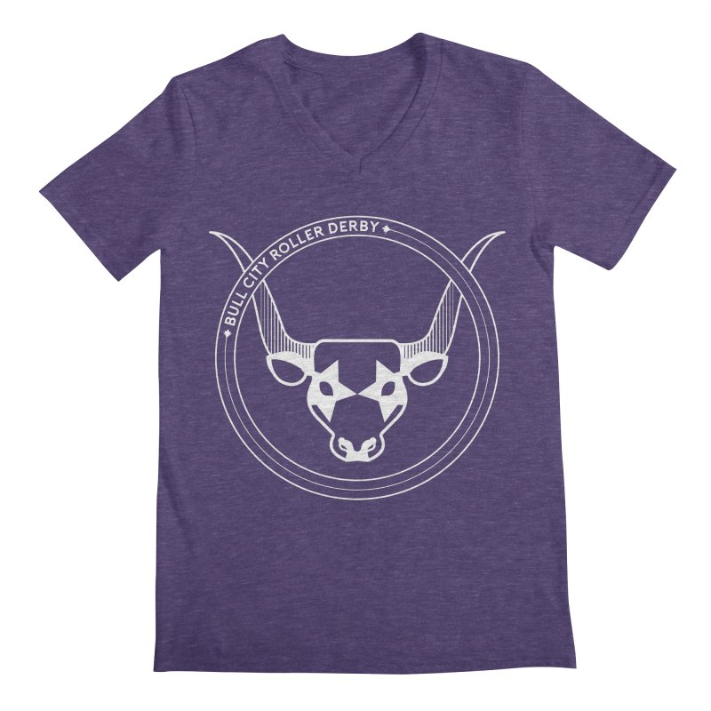 BCRD Badge Men's V-Neck by Bull City Roller Derby Shop