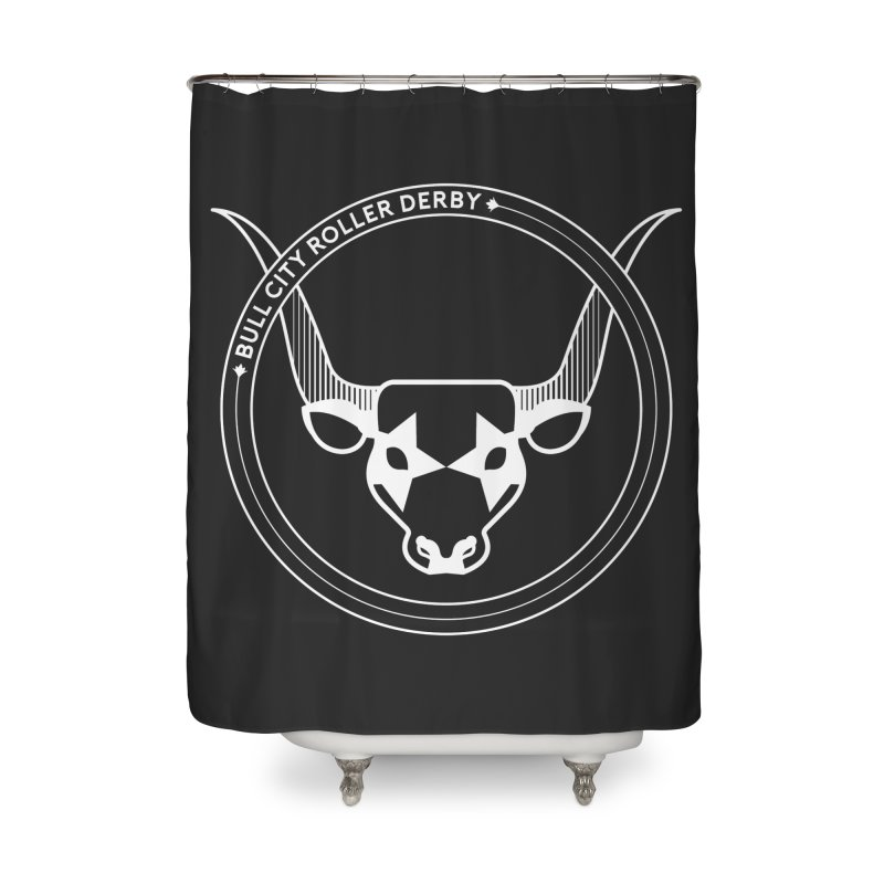 BCRD Badge Home Shower Curtain by Bull City Roller Derby Shop