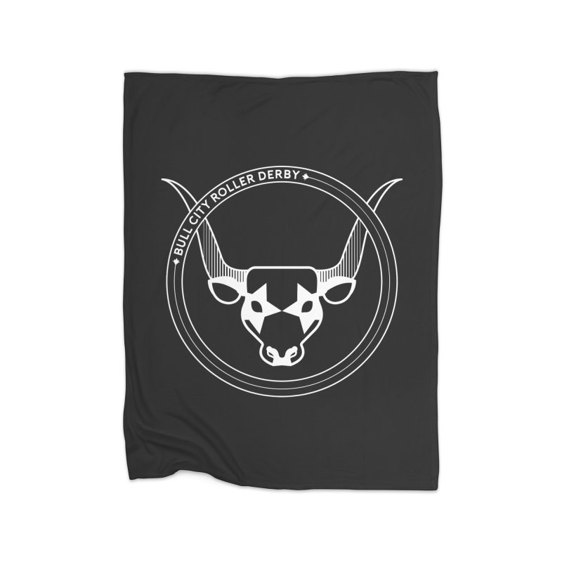 BCRD Badge Home Fleece Blanket Blanket by Bull City Roller Derby Shop