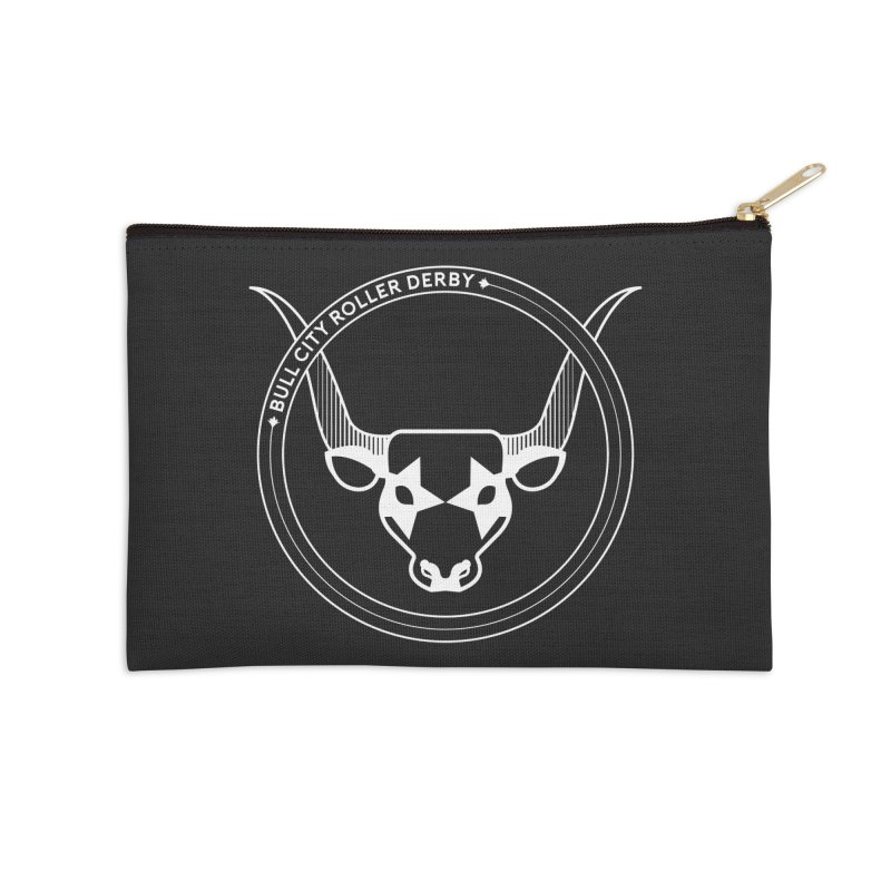 BCRD Badge Accessories Zip Pouch by Bull City Roller Derby Shop