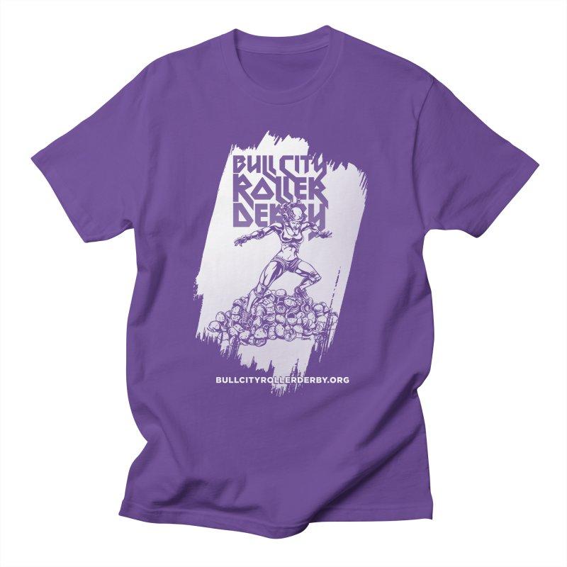 Bull City- HEAVY METAL Reverse Men's T-Shirt by Bull City Roller Derby Shop