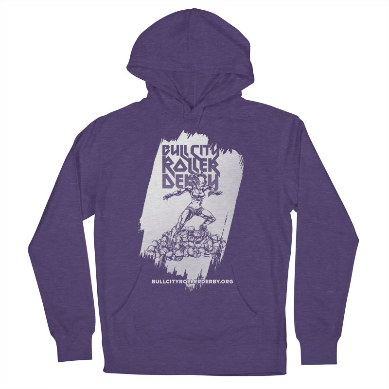 Bull City- HEAVY METAL Reverse Men's French Terry Pullover Hoody by Bull City Roller Derby Shop