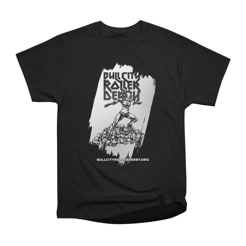 Bull City- HEAVY METAL Reverse Men's Heavyweight T-Shirt by Bull City Roller Derby Shop