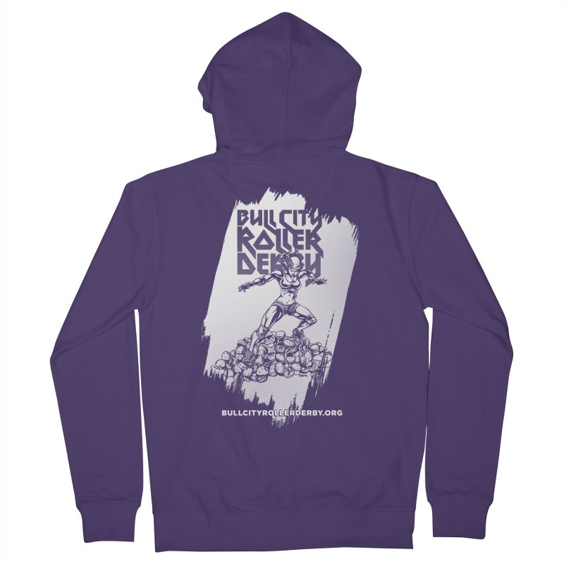 Bull City- HEAVY METAL Reverse Women's French Terry Zip-Up Hoody by Bull City Roller Derby Shop