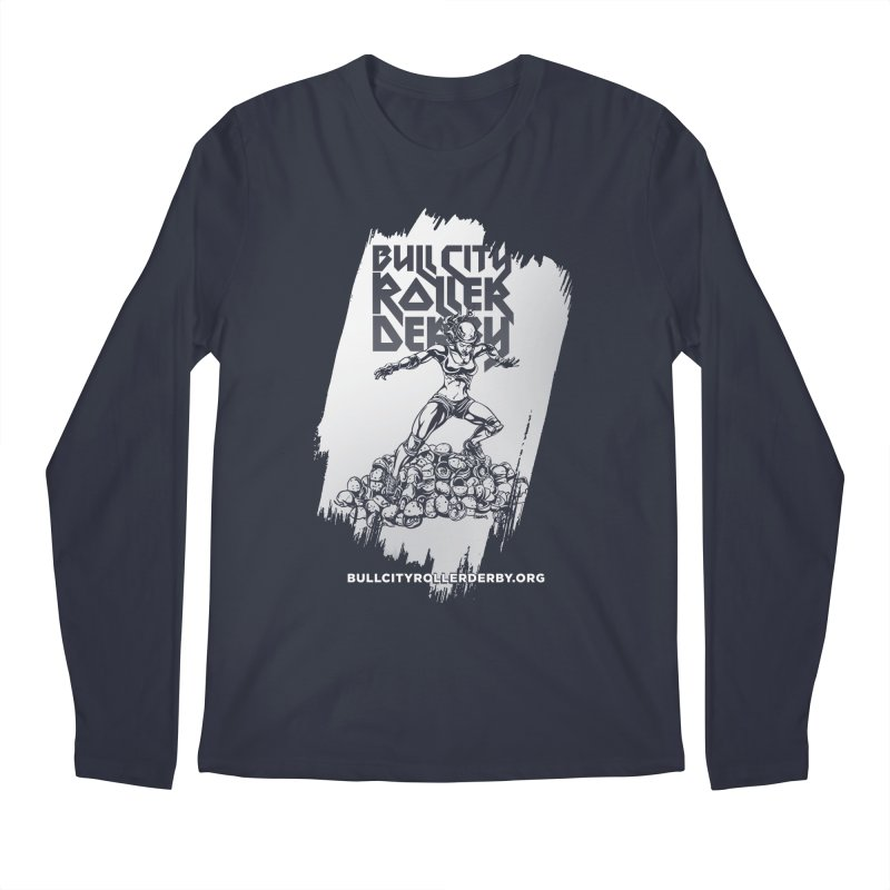 Bull City- HEAVY METAL Reverse Men's Regular Longsleeve T-Shirt by Bull City Roller Derby Shop
