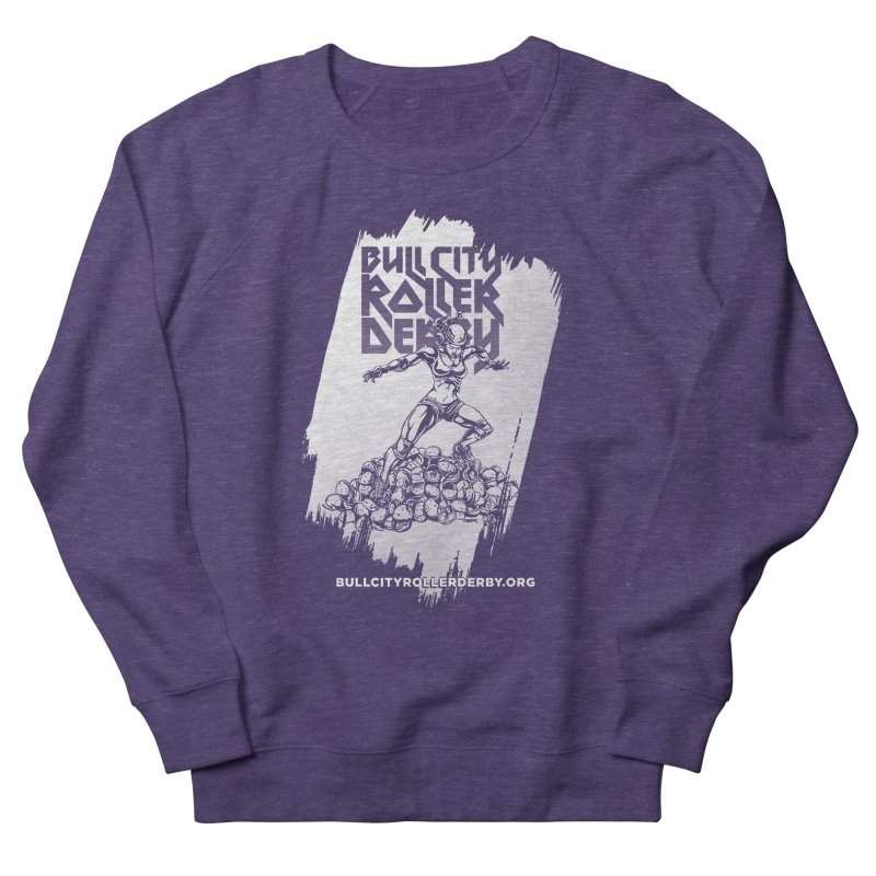 Bull City- HEAVY METAL Reverse Women's French Terry Sweatshirt by Bull City Roller Derby Shop