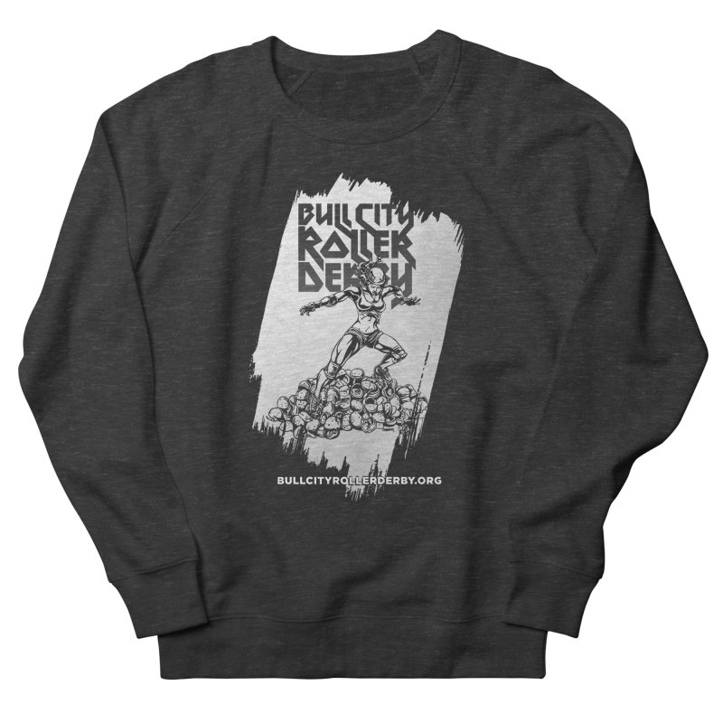 Bull City- HEAVY METAL Reverse Men's French Terry Sweatshirt by Bull City Roller Derby Shop