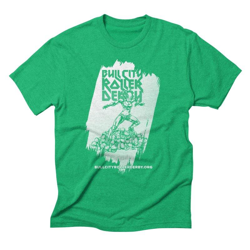 Bull City- HEAVY METAL Reverse Men's Triblend T-shirt by nonnahsonic's Artist Shop