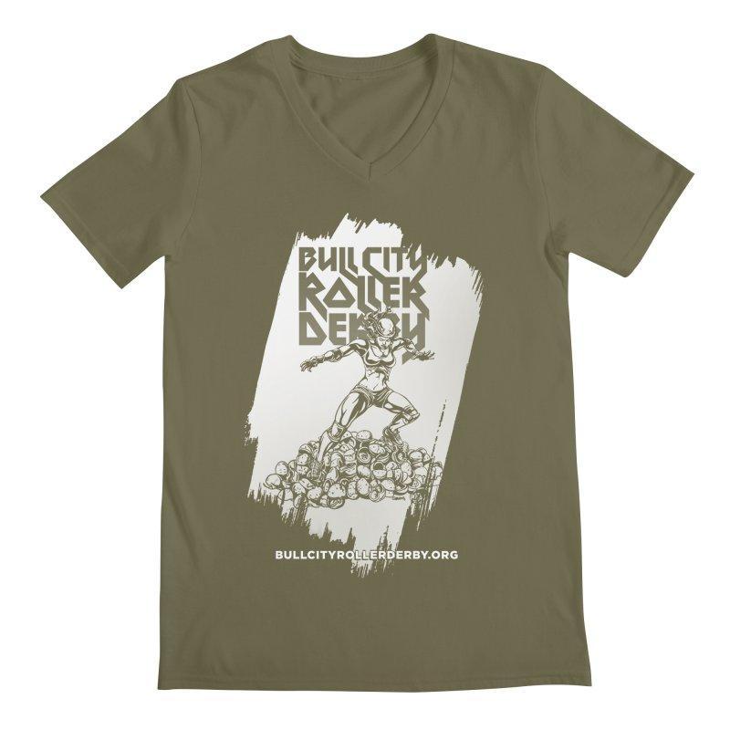 Bull City- HEAVY METAL Reverse Men's V-Neck by nonnahsonic's Artist Shop