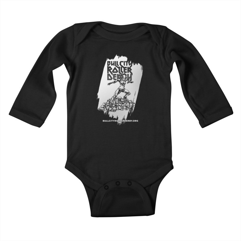 Bull City- HEAVY METAL Reverse Kids Baby Longsleeve Bodysuit by Bull City Roller Derby Shop
