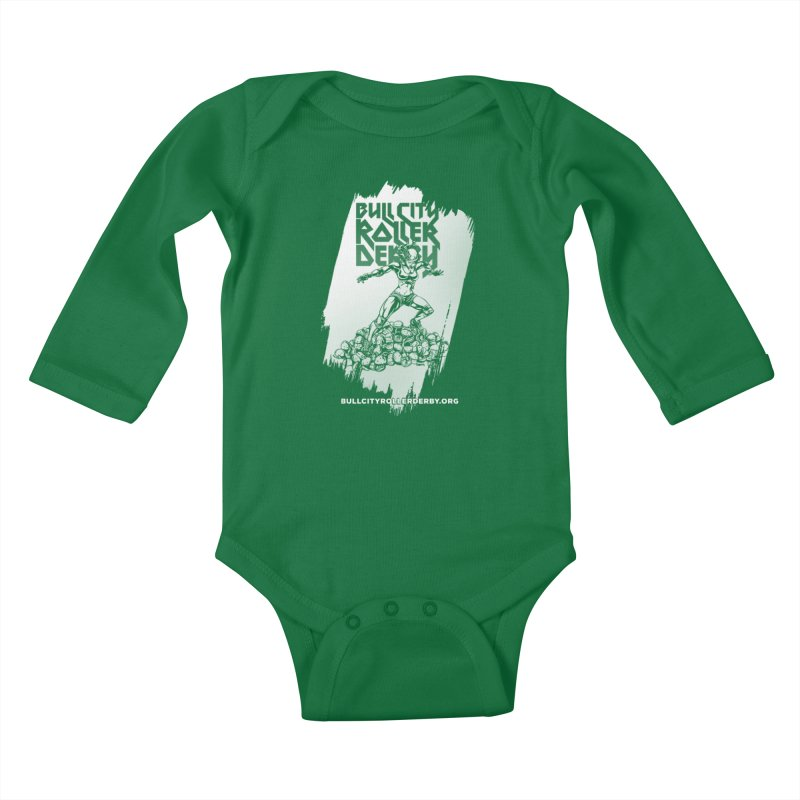 Bull City- HEAVY METAL Reverse Kids Baby Longsleeve Bodysuit by nonnahsonic's Artist Shop