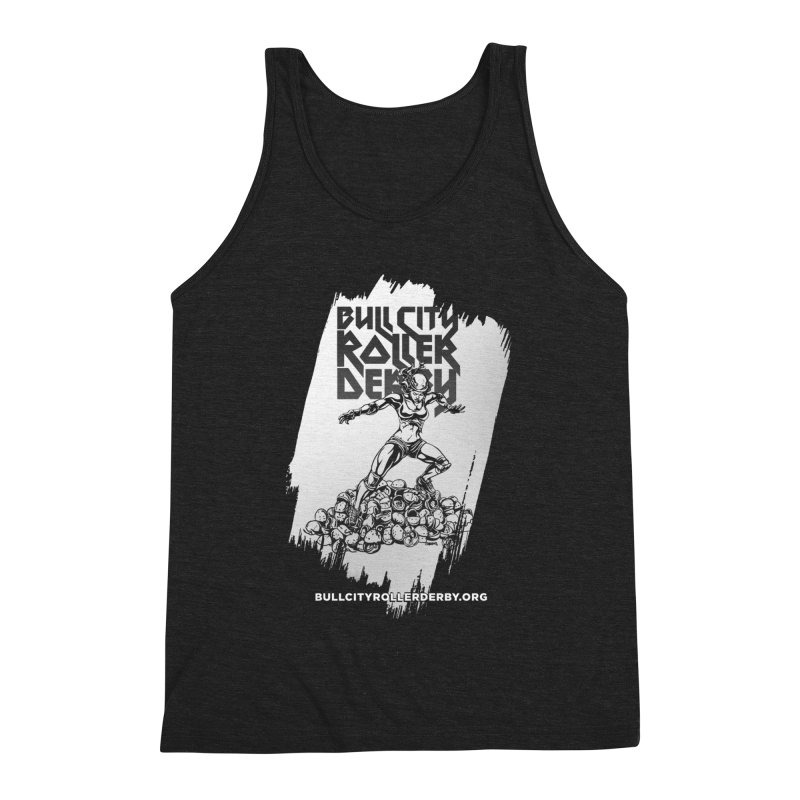 Bull City- HEAVY METAL Reverse Men's Triblend Tank by Bull City Roller Derby Shop