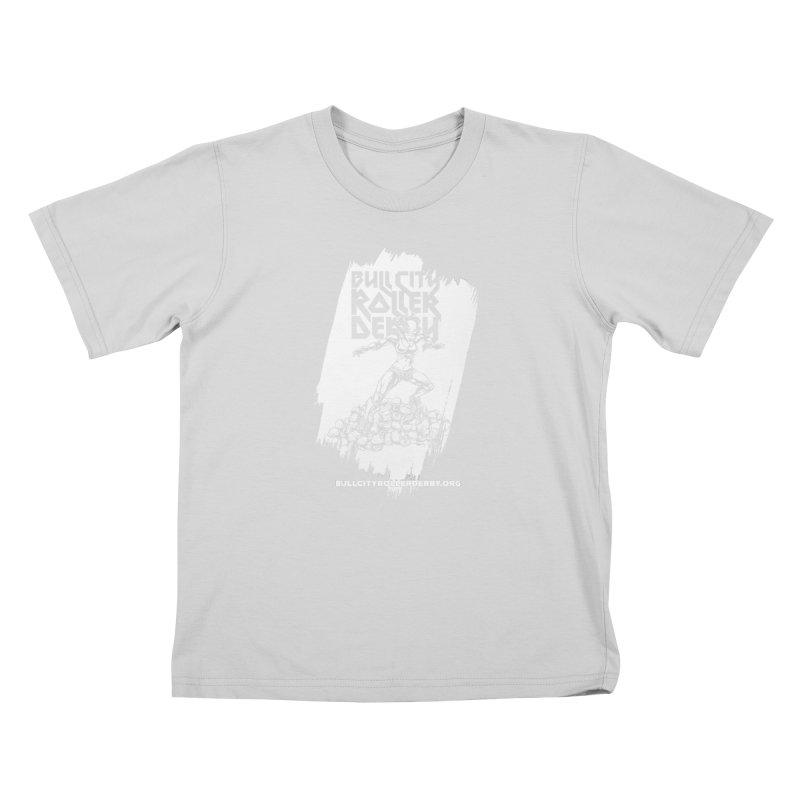 Bull City- HEAVY METAL Reverse Kids T-Shirt by Bull City Roller Derby Shop